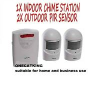 A9b white WIRELESS WEATHERPROOF GARDEN,DRIVEWAY,GARAGE,BURGLAR OR VISITOR ALARM
