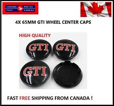 NEW 4X VW VOLKSWAGEN GTI CENTER WHEEL CAP CAPS 65MM GOLF GTI SPORT