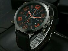 Brand watch Rubber Band Marks Hour steel Analog Men's Military Casual W
