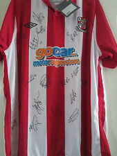 Lincoln City 2010-2011 Squad Signed Home Football Shirt with coa /39474