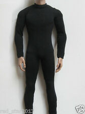 "1/6 Scale Man Male Clothes Black Slim tight stretch leotard F 12"" Action Figure"