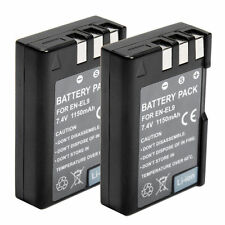 For Nikon EN-EL9 D40 D40x D60 D3X D3000 D5000 Li-ion 2x Battery Pack