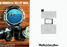 PUBLICITE ADVERTISING 106  1979  Minolta  (2p) appareil photo XG1