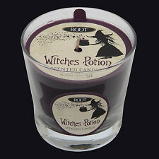 ROOT CANDLES WITCHES POTION HALLOWEEN VERIGLASS SCENTED CANDLE. PURPLE CANDLE.