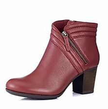 Clarks Enfield Ellen4 Boots- Wine UK6 EU39.5 D Fit JS15 80