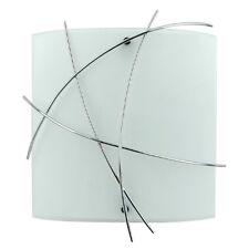 Modern Kriss Kross Opal Glass & Chrome Wire Detail Wall Light Wall Washer