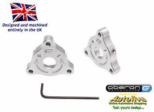 Oberon Performance Buell 22mm A/F (Nut) Fork Adjusters #PRE-0001-SILVER