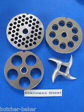"#12 (2 3/4"") 4-PAK PLATE KNIFE Disc Meat Grinder fits Kitchener & Northern Tool"
