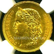 SWITZERLAND 1896 B GOLD COIN 20 FRANCS * NGC CERTIFIED GENUINE MS 61 * BRILLIANT