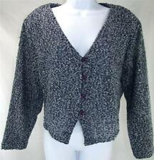 NWT LA Woman Cardigan Sweater 18/20 Blue Button Front Long Sleeve Light Knit