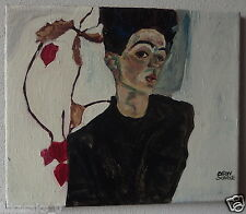 Auctioning an original oil, on canvas painting, signed Egon Schiele w COA & DOCS