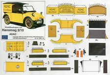 Hanomag 2/10 ADAC Papiermodell Baubogen Karton paper model cut out kit Scholz