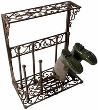 Cast Iron Boot Holder Elegant Outdoor Storage Garden Wellington Boots Shoes