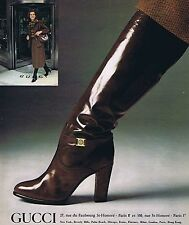 PUBLICITE ADVERTISING 114 1977 GUCCI chaussures bottes