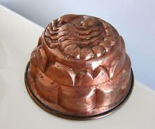 RARE VINTAGE LARGE SOLID COPPER SCORPION ON  JELLO CAKE PUDDING MOLD 8 1/2""