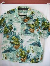 ANGELICA Tropical Hawaiian scene  Shirt X-LARGE Men's classic-exciting colors