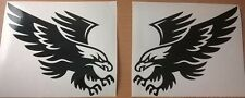 2 tribal hawk eagle attacking vinyl graphic car sticker bonnet L+R side wall art
