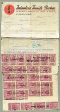 FATTURA del 30.7.1944 con applicate 90 marche da bollo da lire 20.