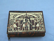 Egyptian Leather Women Lady Brown Clutch Wallet Purse Card Holder Judgement 2004