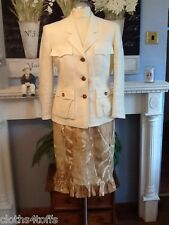 MAX MARA SUIT SKIRT AND JACKET UK 12