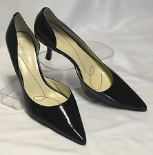 ANNE KLEIN Christa Size 8.5 M Black Patent Leather HighHeel D'Orsay Career Pumps