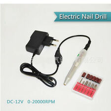 AS Nail Art Drill Tips Electric Manicure Toenail File Tool Mini Nail Grinder Set