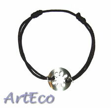 Beautiful cord Bracelet with 925 Sterling silver 50% OFF