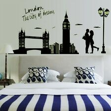 London City Bridge Big Ben Flourescent Wall Decal Sticker Home Decor Vinyl Art