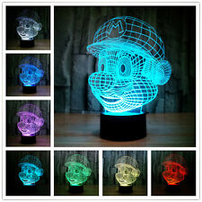 SUPER MARIO BROS/ LAMPARA LED 7 COLORES- LED LAMP CHANGE ITS COLOR