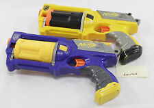 Nerf Gun Revolver Maverick REV-6 N-Strike Pistol Dart Toy Blue Yellow Fire Game