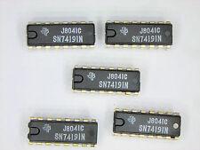 """SN74191N  """"Original"""" Texas Instruments  16P DIP TTL  IC  5  pcs"""