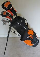 NEW RH Junior Golf Club Set with Jr. Stand Bag for Kids Ages 8-12 Orange & Black