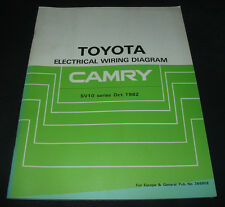 Manual Electrical Wiring Diagram Toyota Camry SV 10 Werkstatthandbuch 10/1982!
