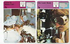 THE LASER BEAM & LASERS IN HEALTH CARE Surgeries STORY OF AMERICA 2 CARDS