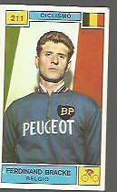 FIGURINA CARD  PANINI CAMPIONI DELLO SPORT 1969/70 # 211-FERDINAND BRACKE