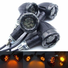 4Pcs Universal Amber LED Turn Signal Light Indicator Bulbs for Motorcycle