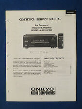 ONKYO A-SV810PRO INTEGRATED AMP SERVICE MANUAL ORIGINAL GOOD CONDITION
