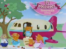 Lil Woodzeez Honeysuckle Airway Vehicles with 34 Accessories NIB