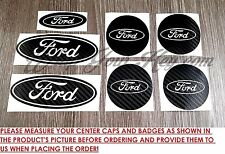 Center Caps&Badges Black&White Carbon Sticker FORD Fiesta ST Ka M Mondeo Focus