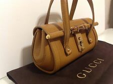 Authentic Small Gucci Rare Mini Leather Tom Ford Bamboo Bag. Ex Cond. Dust bag