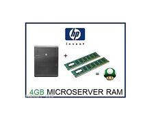 4 GB (2x2 GB) DDR3 MEMORIA ECC RAM UPGRADE HP ProLiant MicroServer n36l, N40L & N54L
