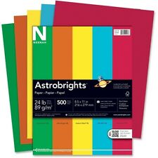 Wausau Astrobrights Eco Brights Colored Paper, 24lb, 8-1/2 x 11, Assorted, 500 S