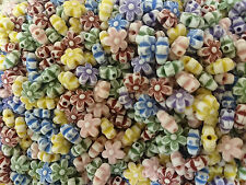 10mm Colourful Flower resin bead Assorted Colours 500grams (approx 1700+ beads)