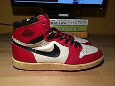 Original Air Jordan 1 (1985) - Red, White, Black - Size 10.5