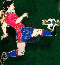 Hard Rock Cafe YOKOHAMA 2002 World Cup Soccer PIN Player Kicking Ball HRC #12763