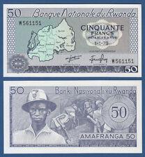 RUANDA / RWANDA 50 Francs 1976 UNC P.7 c