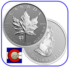 2016 Canada Four Leaf Clover Privy Maple 1oz Silver Reverse Proof Canadian Coin