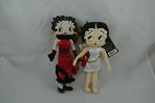 "Betty Boop Plush With Tags Saloon abd Cupid Set of 2 Boop 10"" Tall"