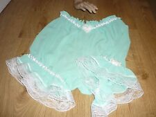 Sissy Sexy Gorgeous CHIFFON MINT GREEN FRILLY bloomers KnicKer cd tv BIG PANTIES
