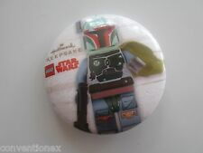 SDCC Comic Con Hallmark LEGO Star Wars Boba Fett Button Pin